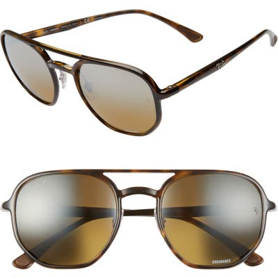 Ray-Ban 5m Chromance Polarized Aviator Sunglasses - Havana/ Brn Grey Grad Polar