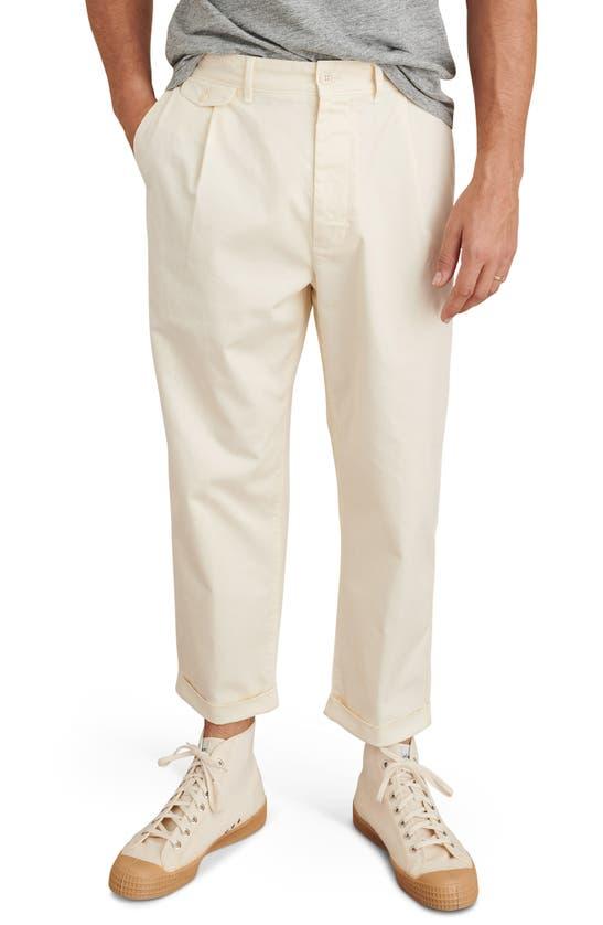 ALEX MILL Cottons STANDARD PLEATED STRAIGHT LEG CHINOS