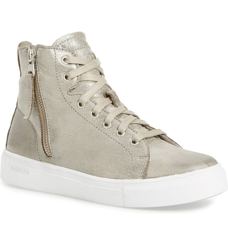 BLACKSTONE 'LL65' High Top Sneaker, Main, color, GREY CAVIAR LEATHER