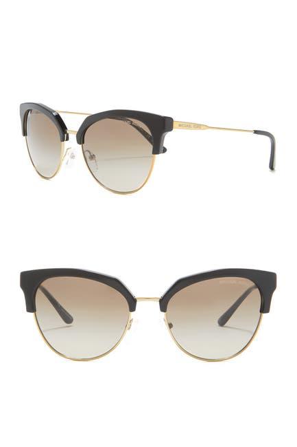 Image of Michael Kors Savannah 54mm Cat Eye Clubmaster Sunglasses