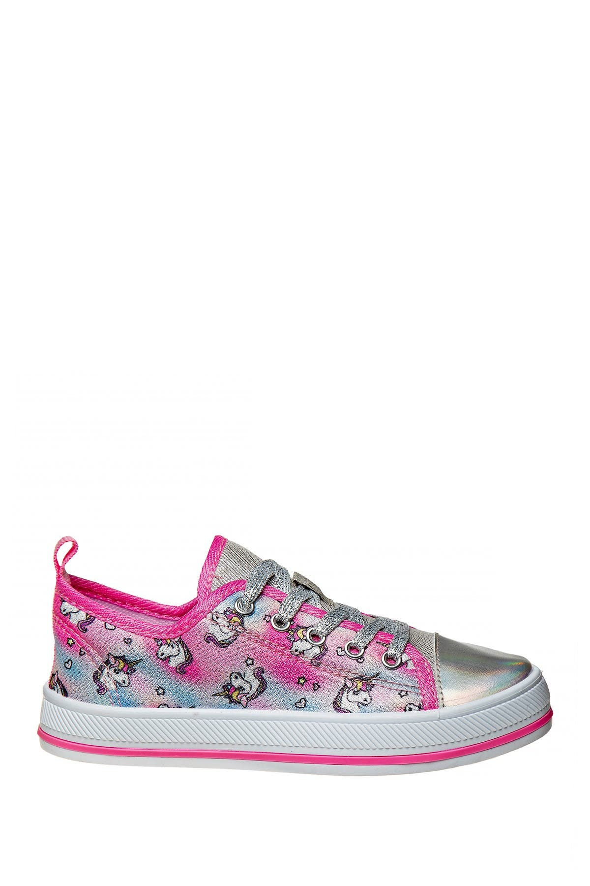 Image of Josmo Metallic Unicorn Print Canvas Sneaker