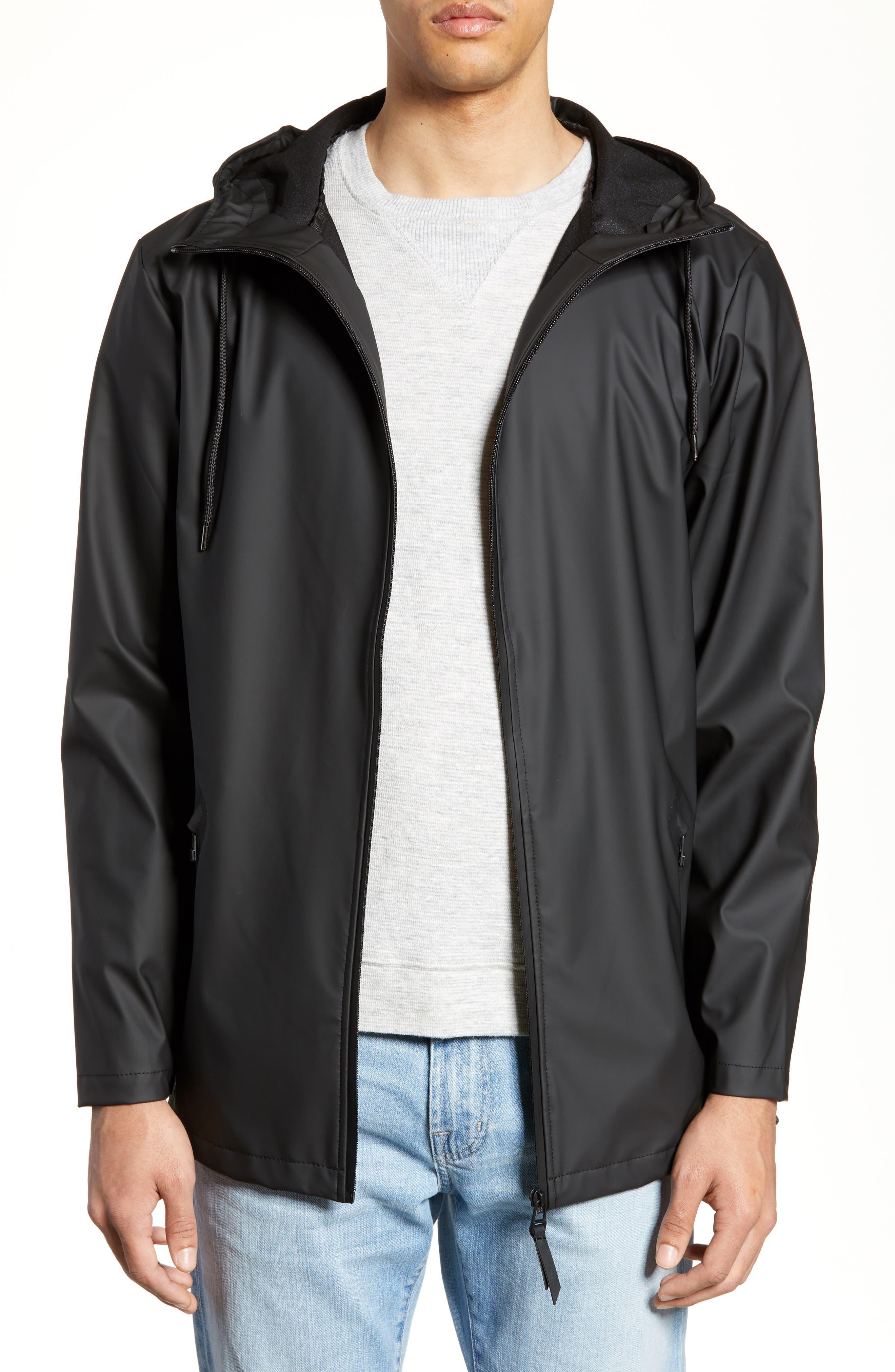 Rains Breaker Water Resistant Jacket, Black