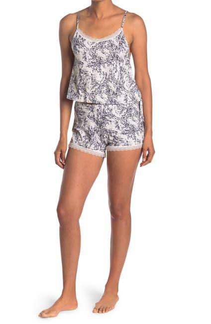 Image of Jessica Simpson Printed Camisole & Shorts 2-Piece Pajama Set