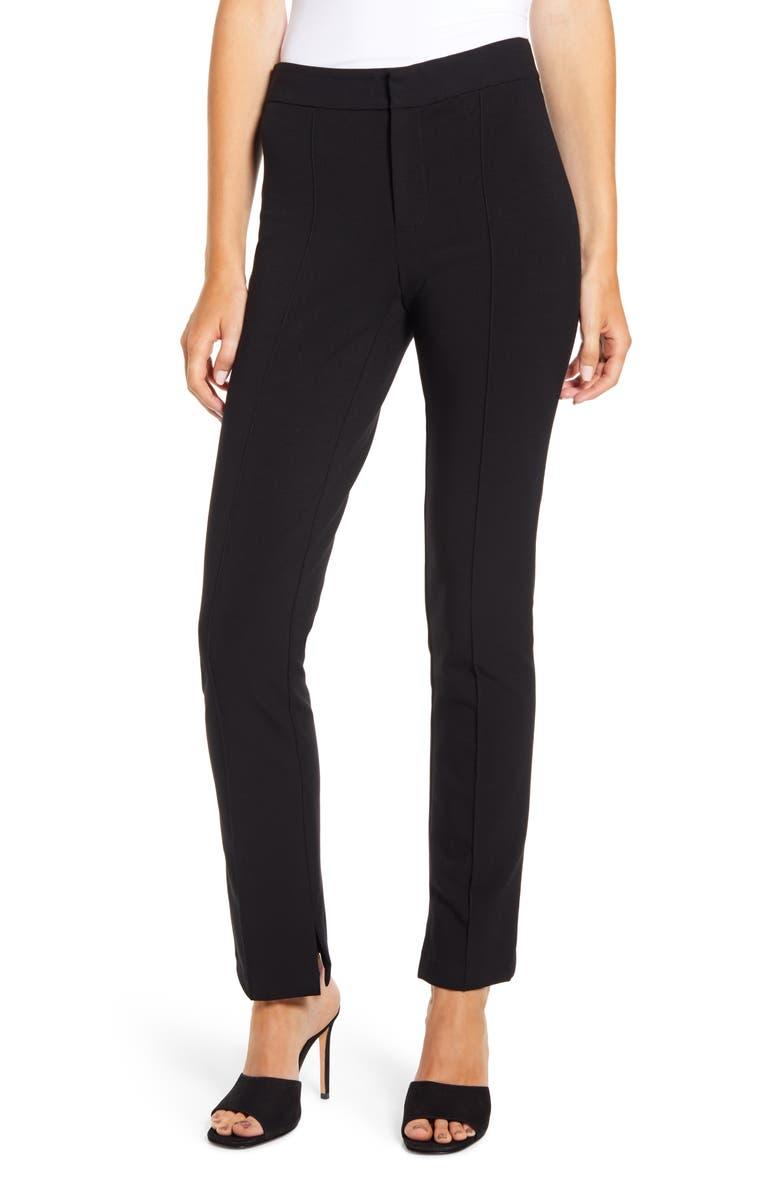 BAILEY 44 Cora Pintuck Ankle Pants, Main, color, BLACK