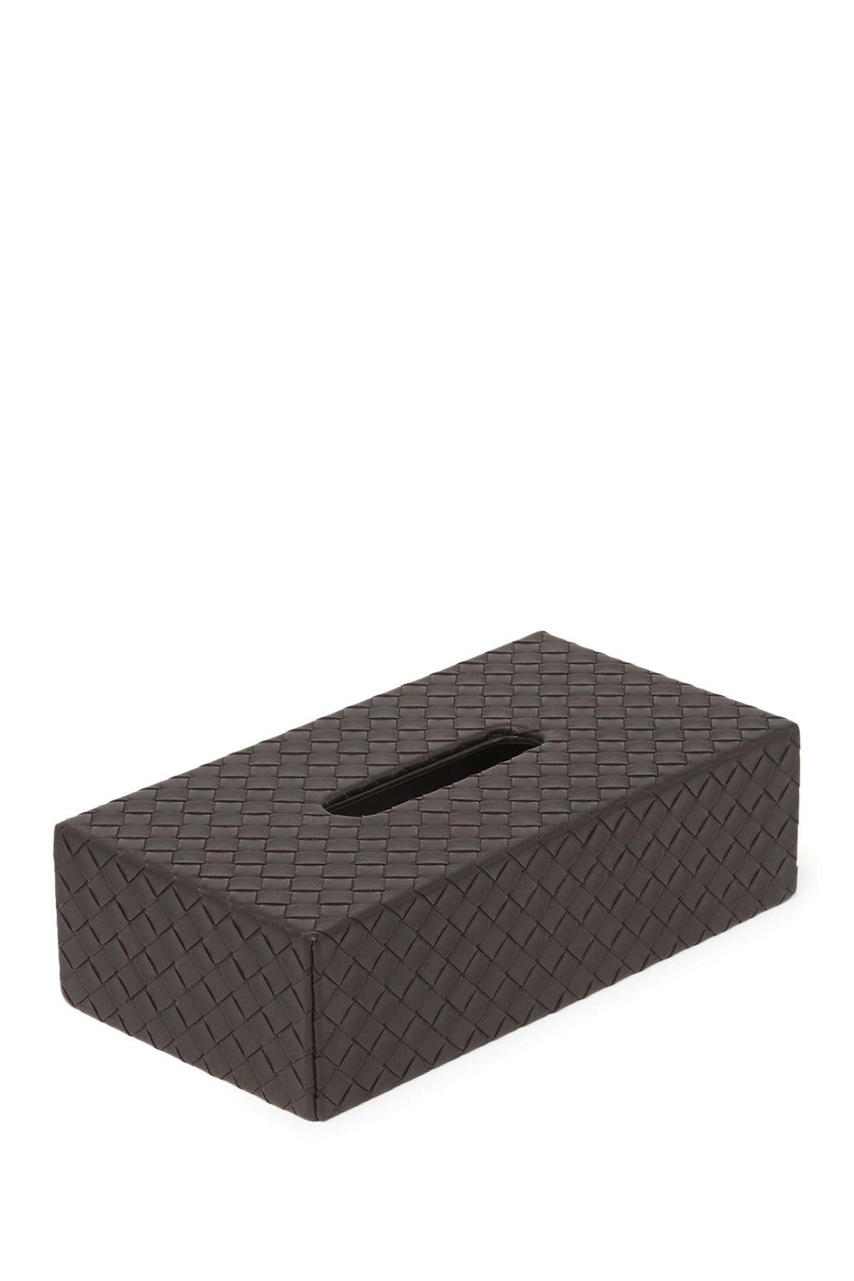 Image of Bottega Veneta Leather Weave Tissue Box Holder