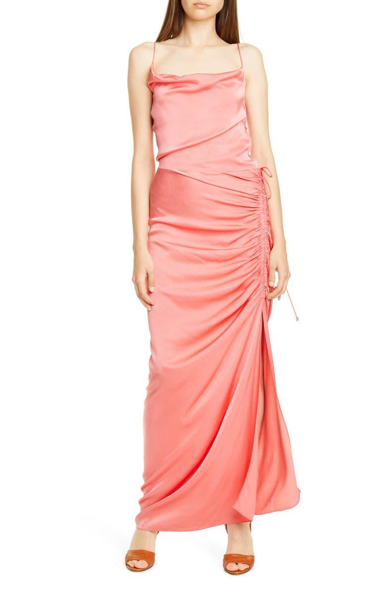 VERONICA BEARD Natasha Ruched Column Dress, Main, color, 950