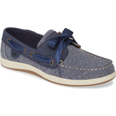 Sperry Koifish Canvas Boat Shoe- Blue