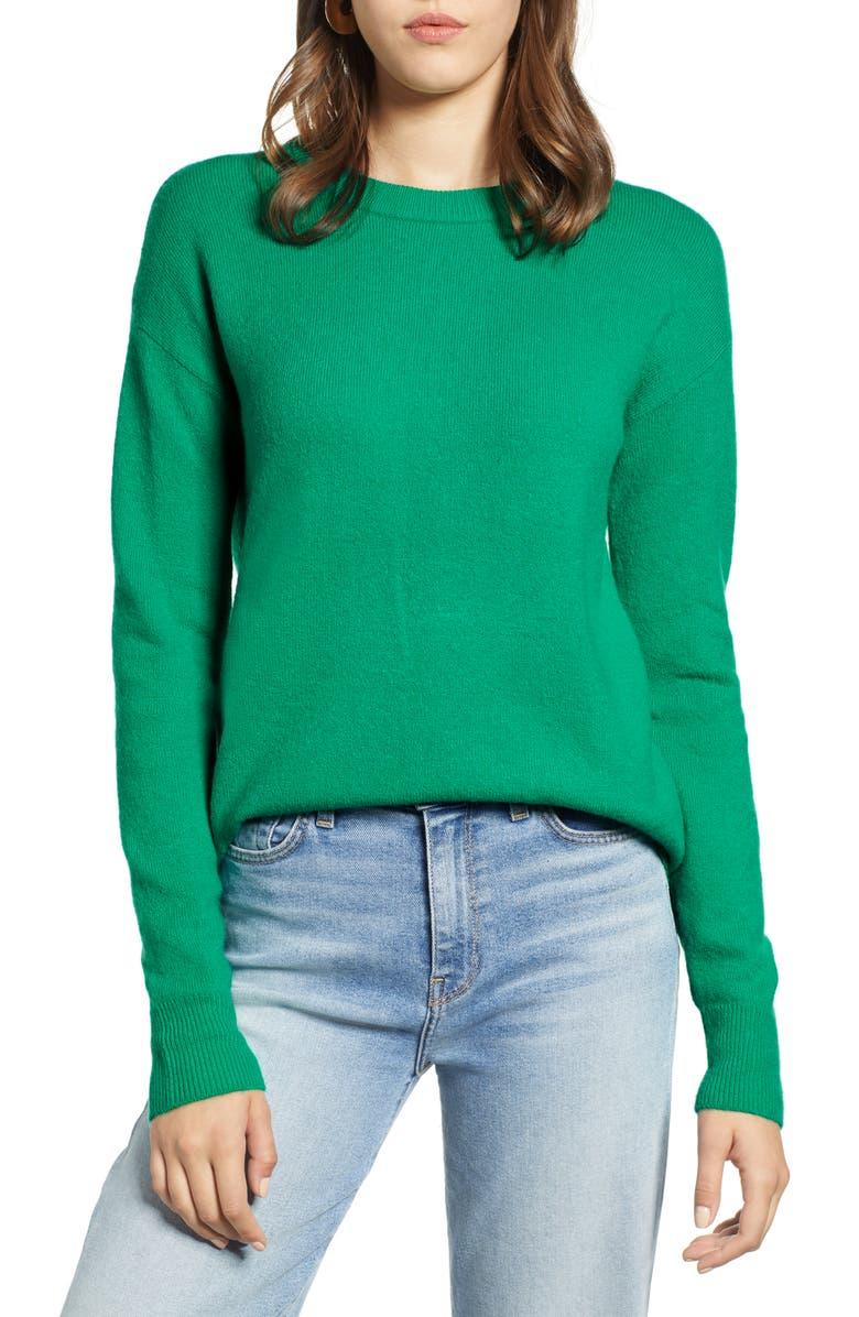 HALOGEN<SUP>®</SUP> Crewneck Wool Blend Sweater, Main, color, 310