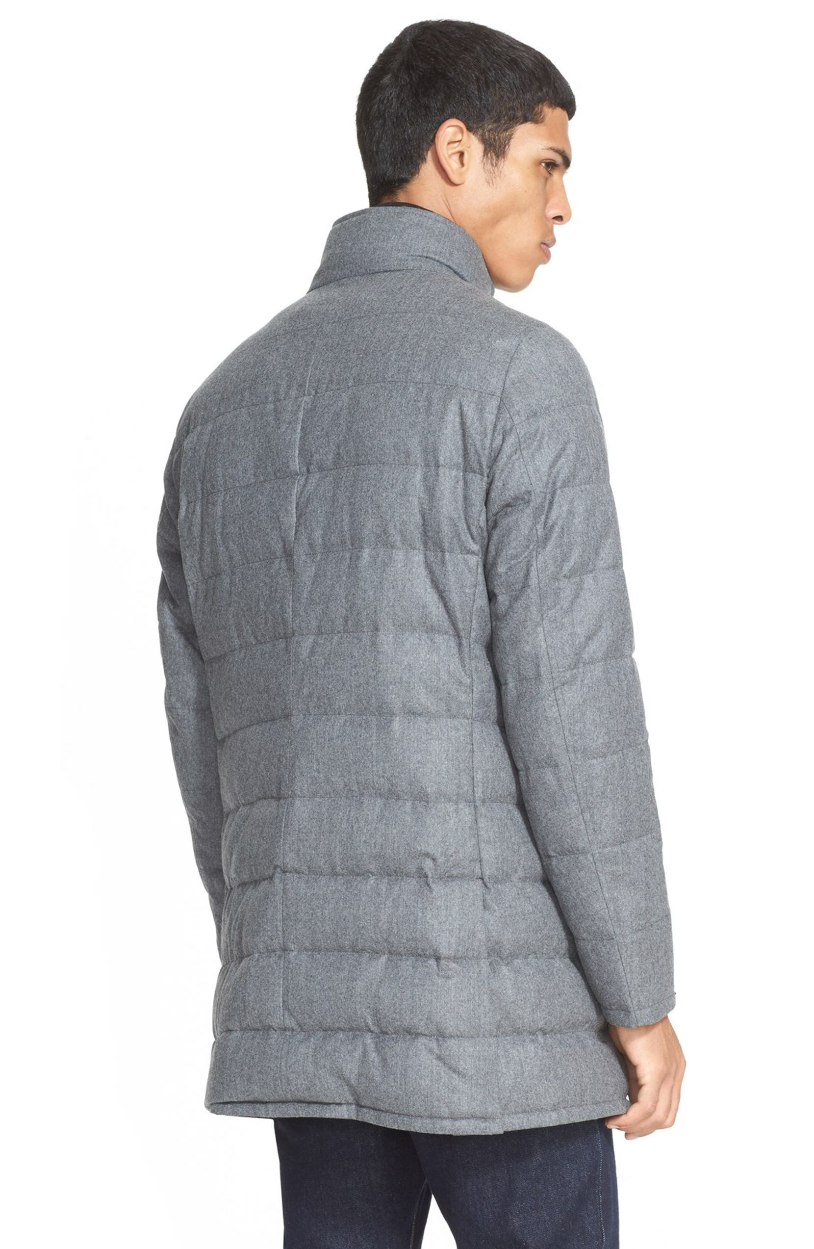334869371 Moncler 'Vallier' Quilted Wool Down Topcoat | Nordstrom