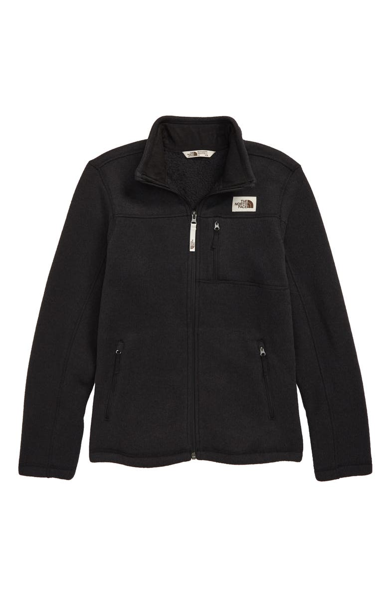 THE NORTH FACE Gordon Lyons Zip Jacket, Main, color, TNF BLACK HEATHER