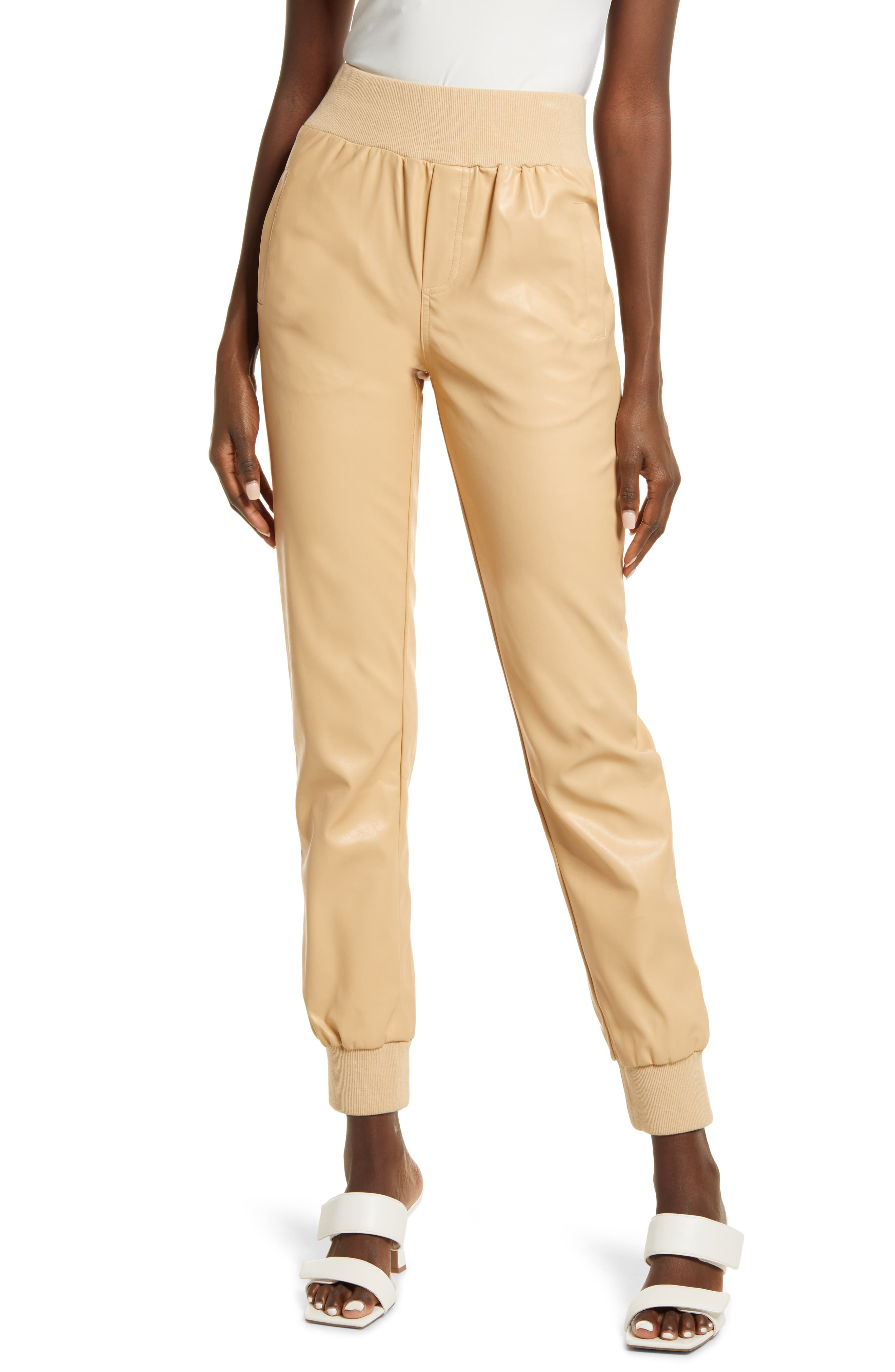 Women's Kendall + Kylie Faux Leather Joggers