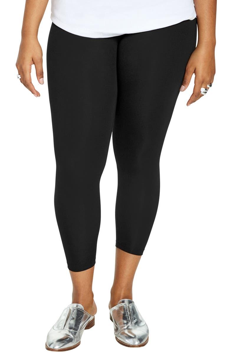 UNIVERSAL STANDARD Roya Crop Leggings, Main, color, BLACK