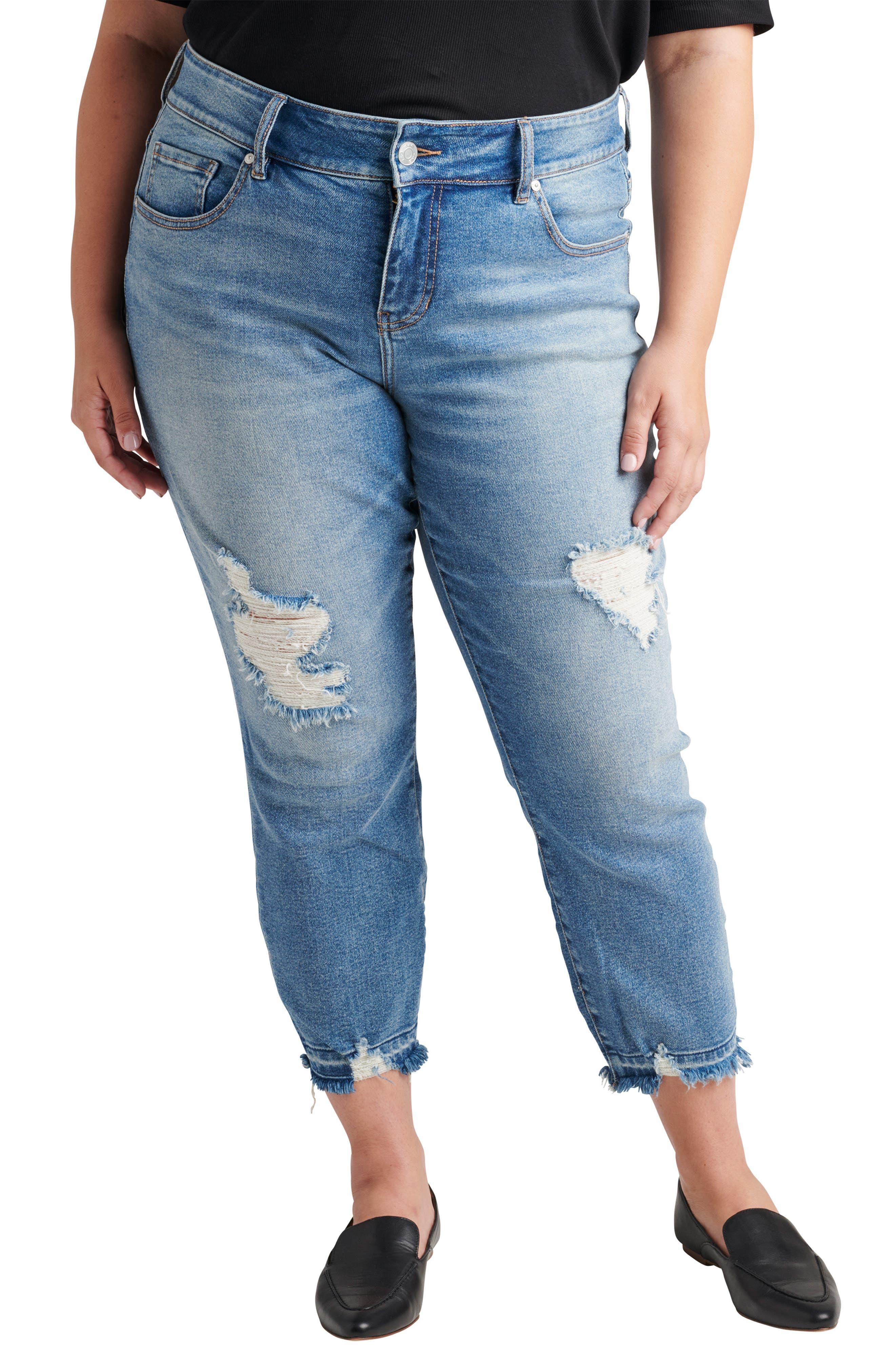 Carter High Waist Crop Girlfriend Jeans