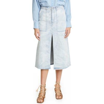 Stella Mccartney Cotton Stretch Denim Skirt, US - Blue
