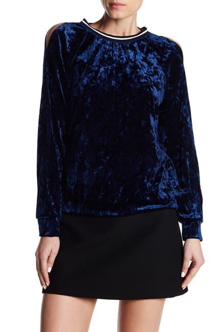 Image of GOOD LUCK GEM Velvet Cold Shoulder Sweater