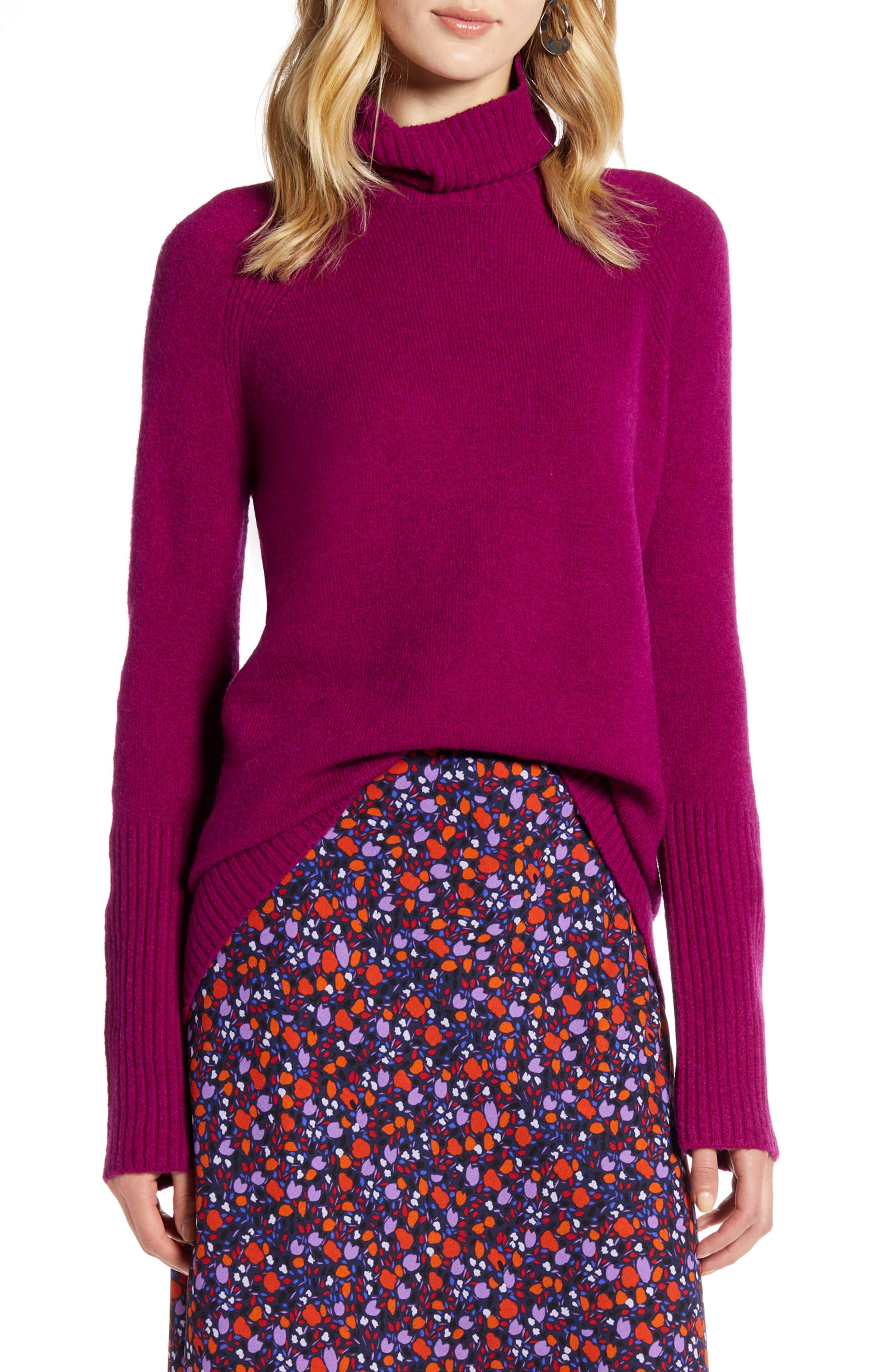 Halogen® Oversize Turtleneck Sweater