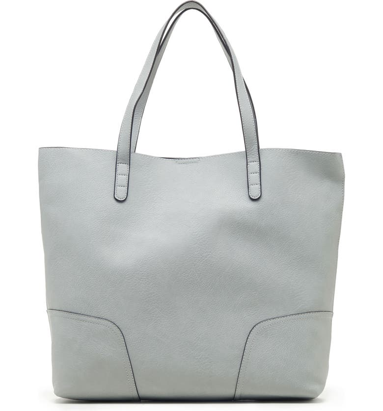 SOLE SOCIETY Lilyn Faux Leather Tote, Main, color, POWDER BLUE