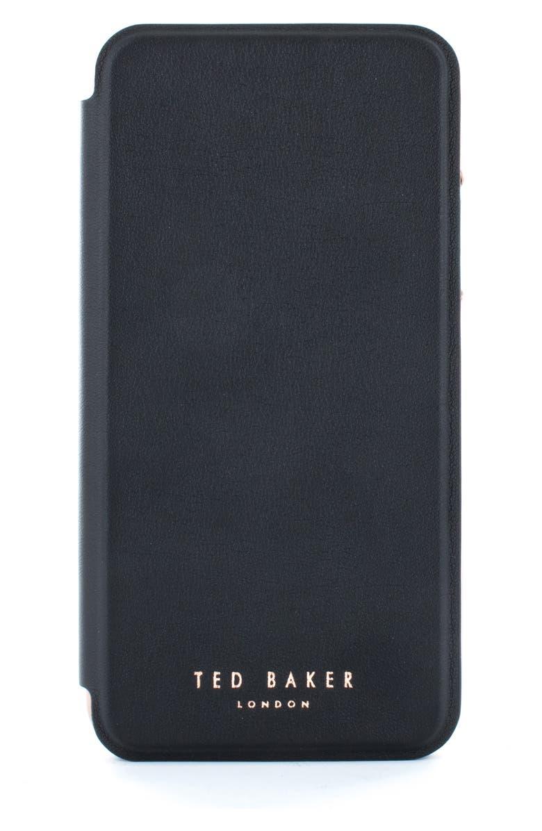 TED BAKER LONDON Shannon iPhone 11/11 Pro & 11 Pro Max Folio Case, Main, color, BLACK