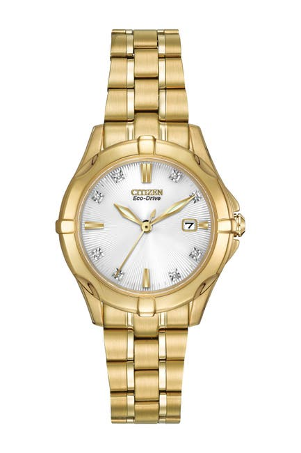 Image of Citizen Women's Eco-Drive Stainless Bracelet Watch with Diamonds, 29mm - 0.0053 ctw