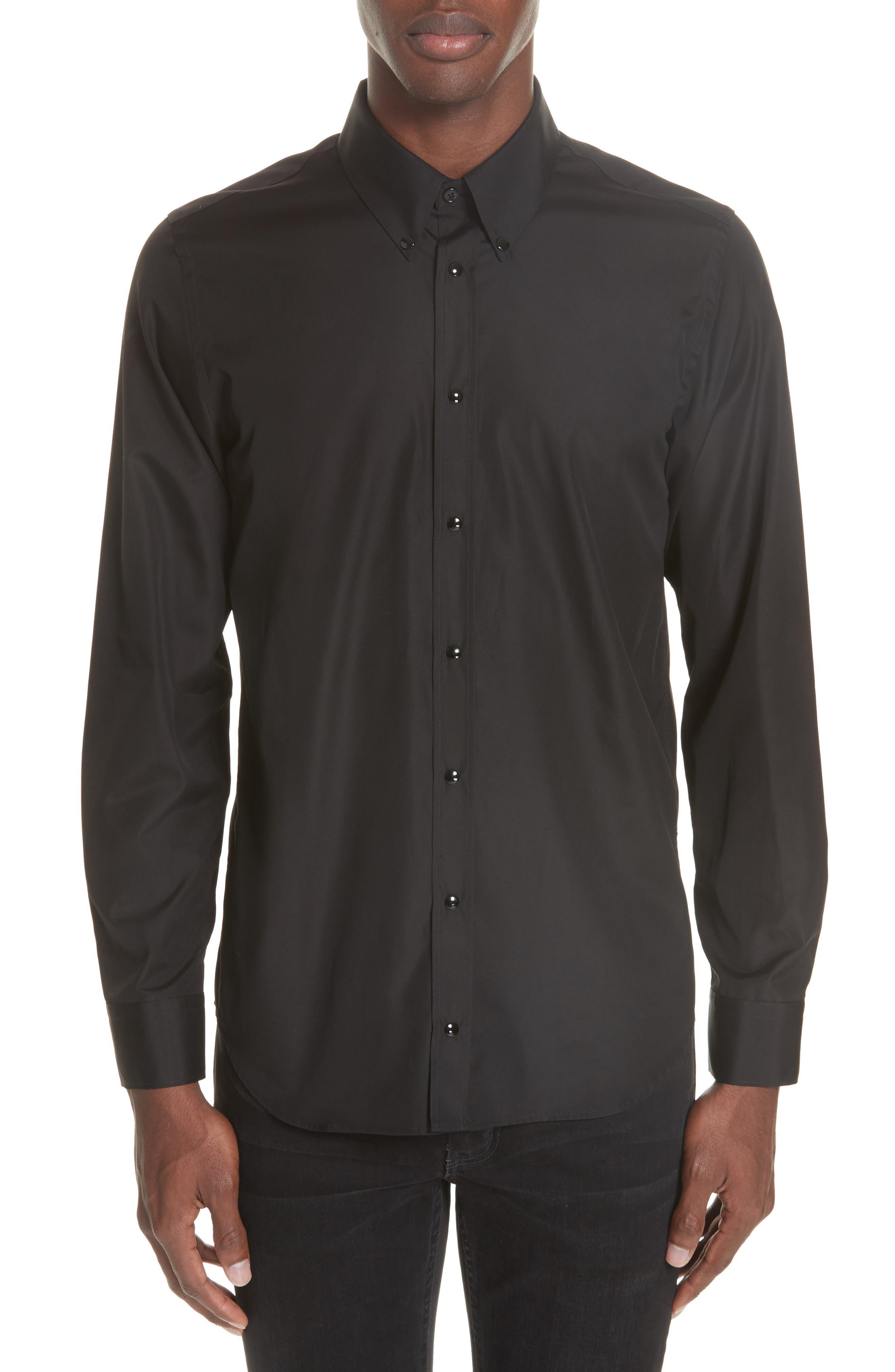 ,                             Woven Shirt,                             Main thumbnail 1, color,                             BLACK