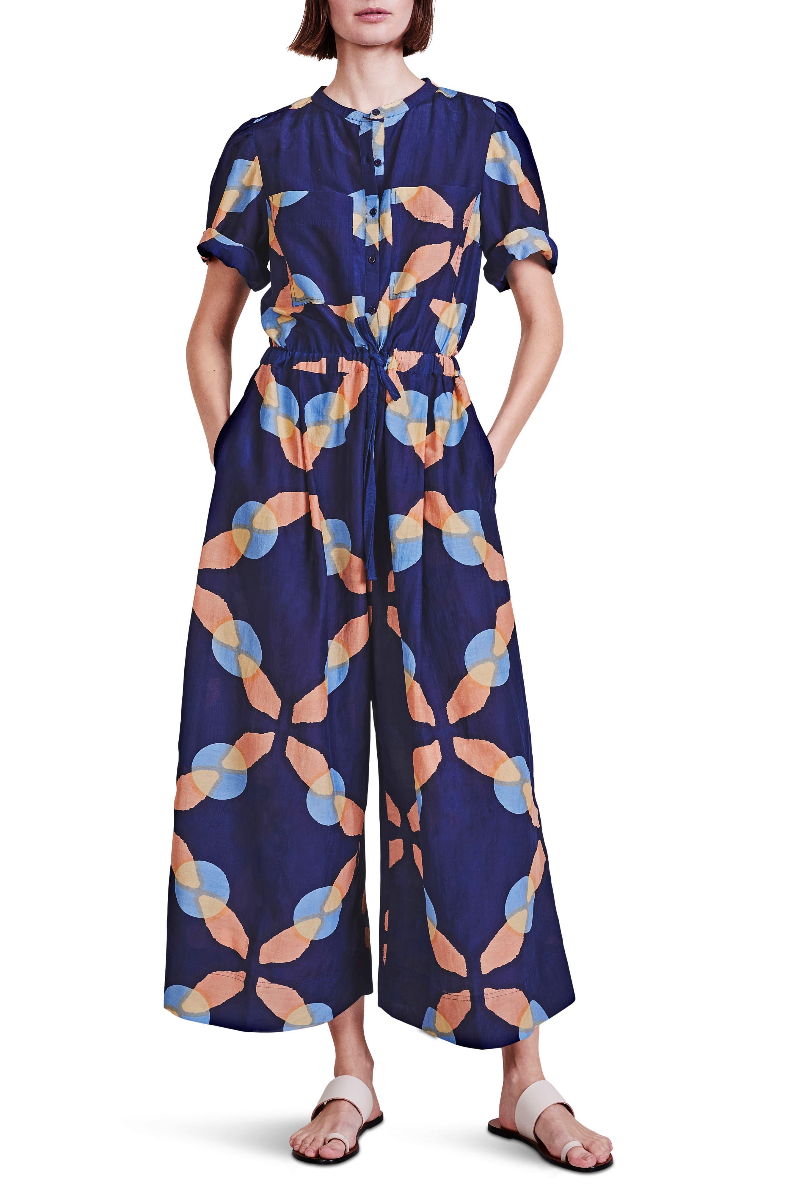 Ensanada Print Cotton & Silk Jumpsuit