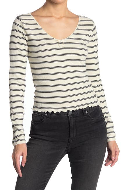 Image of Abound Long Sleeve Stripe Top