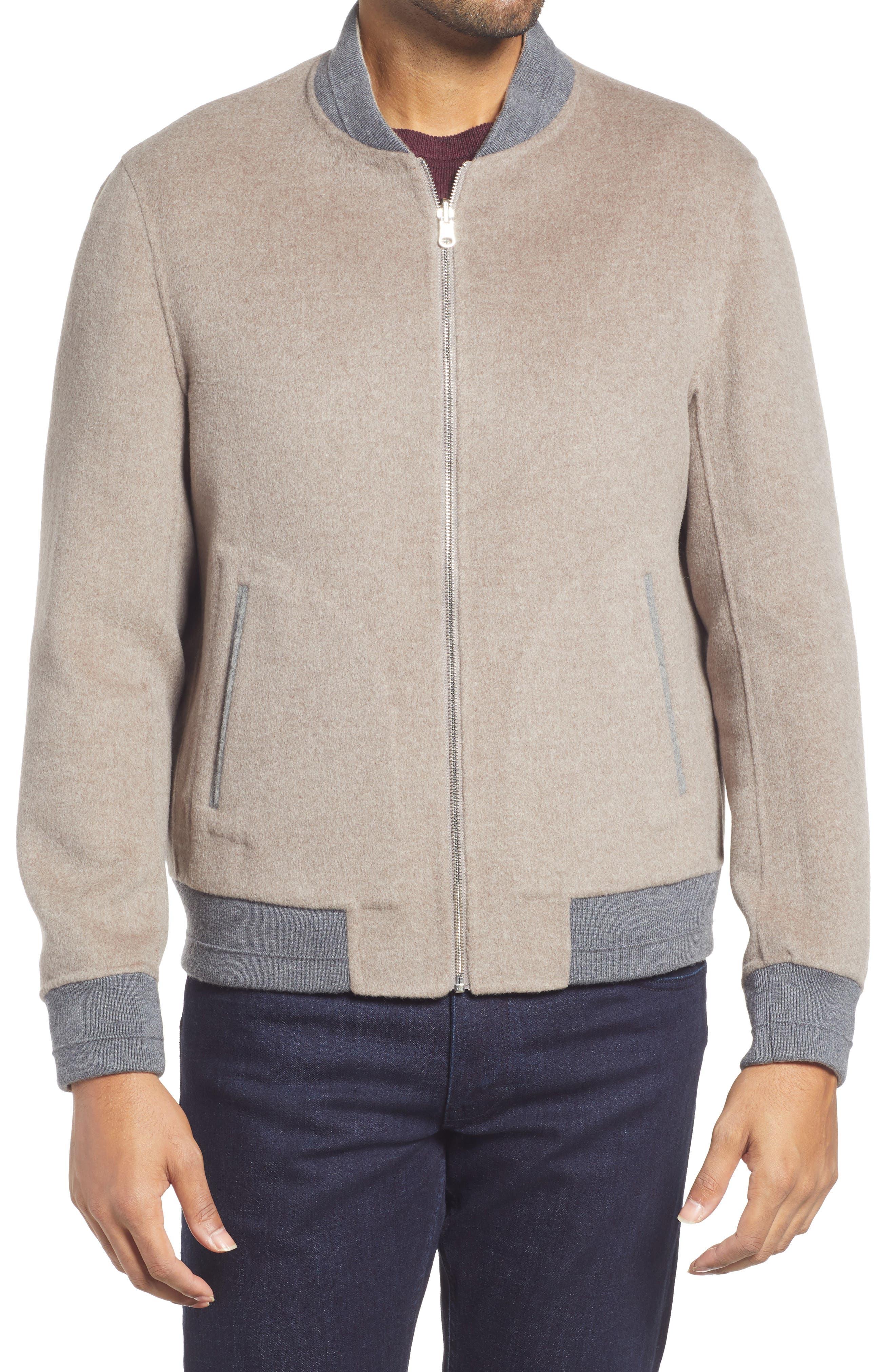 Brady Wool & Cashmere Reversible Bomber Jacket