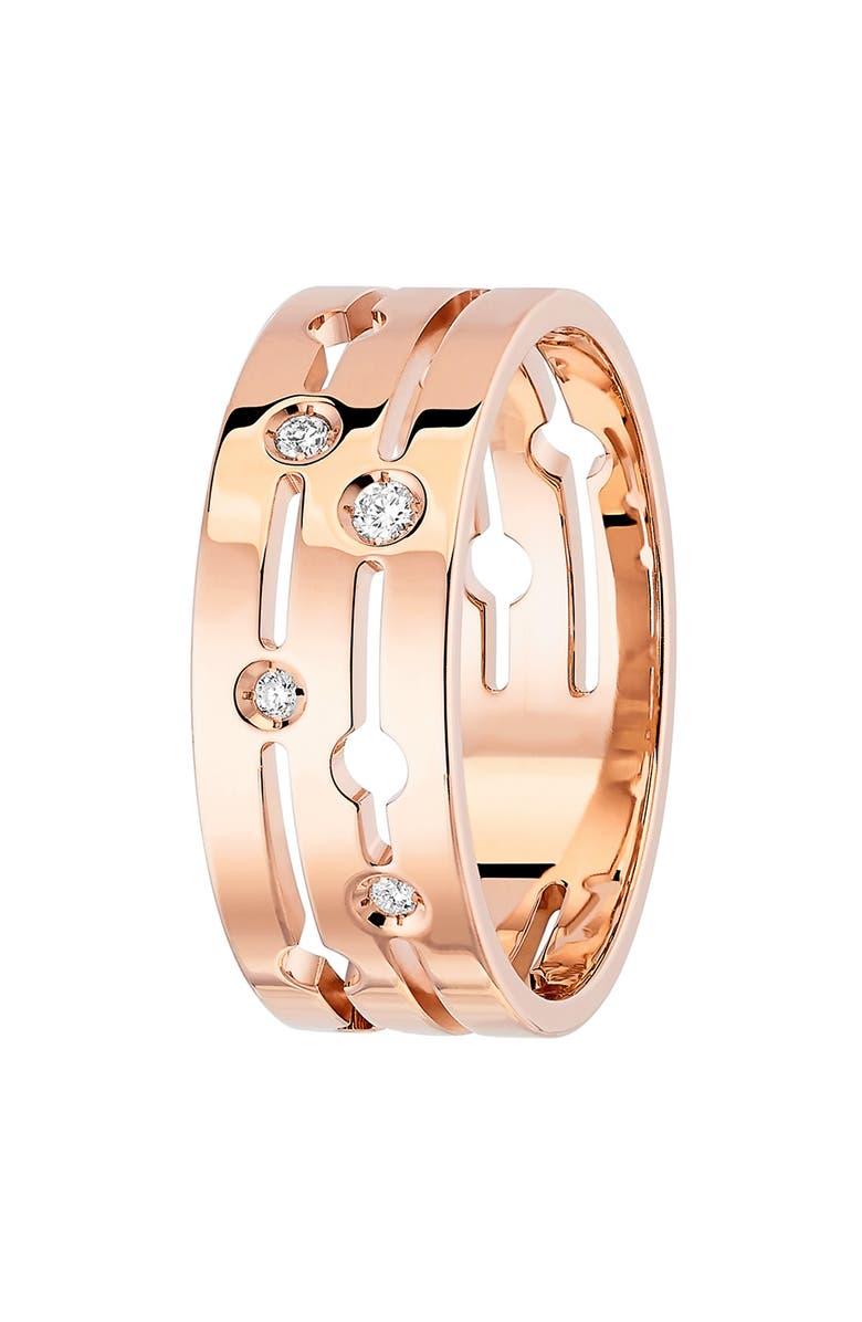 DINH VAN Pulse Diamond 18k Gold Ring, Main, color, ROSE GOLD