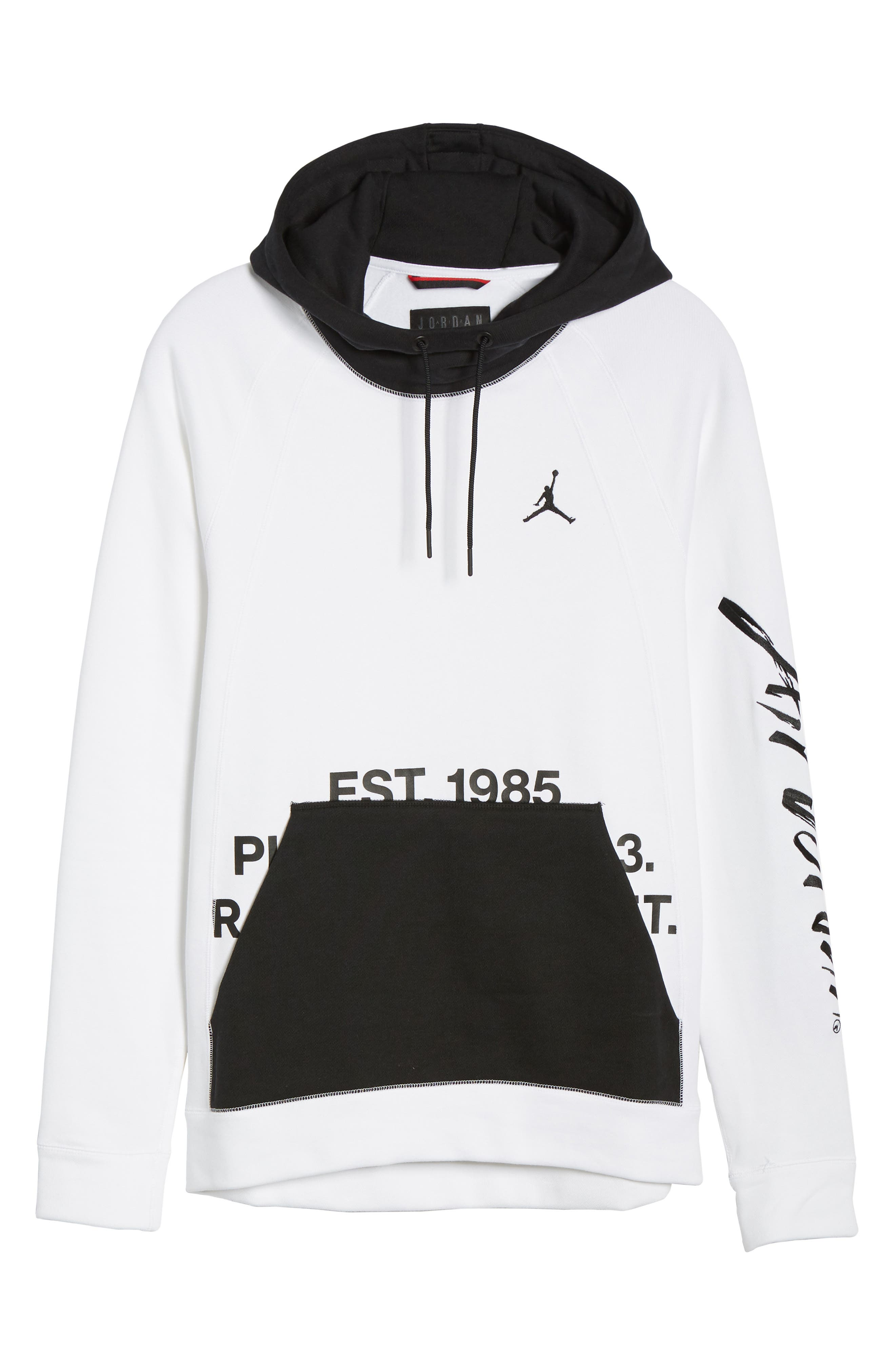 ,                             Sportswear Greatest Fleece Pullover Hoodie,                             Alternate thumbnail 7, color,                             WHITE/ BLACK