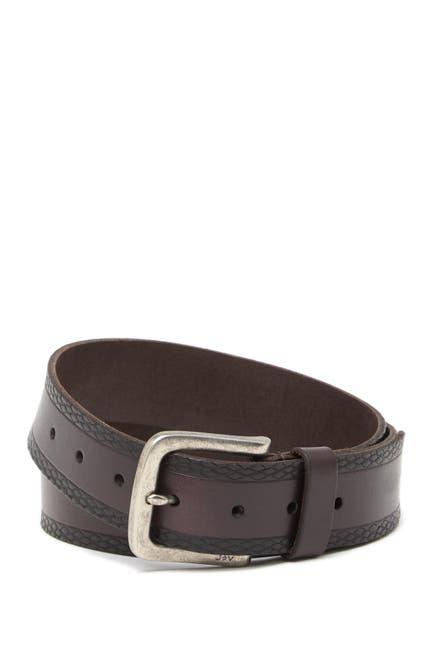 Image of John Varvatos Collection Snake Embossed Leather Belt