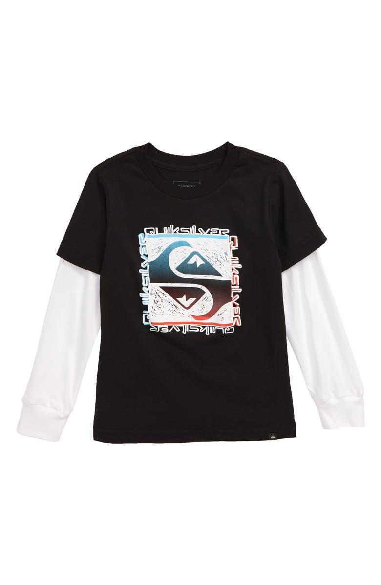 QUIKSILVER Flip Out Graphic T-Shirt, Main, color, BLACK