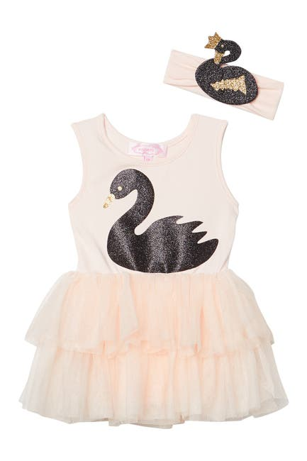 Image of Popatu Swan Tutu Dress w/ Matching Headband