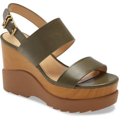 Michael Michael Kors Rhett Wedge Sandal- Green