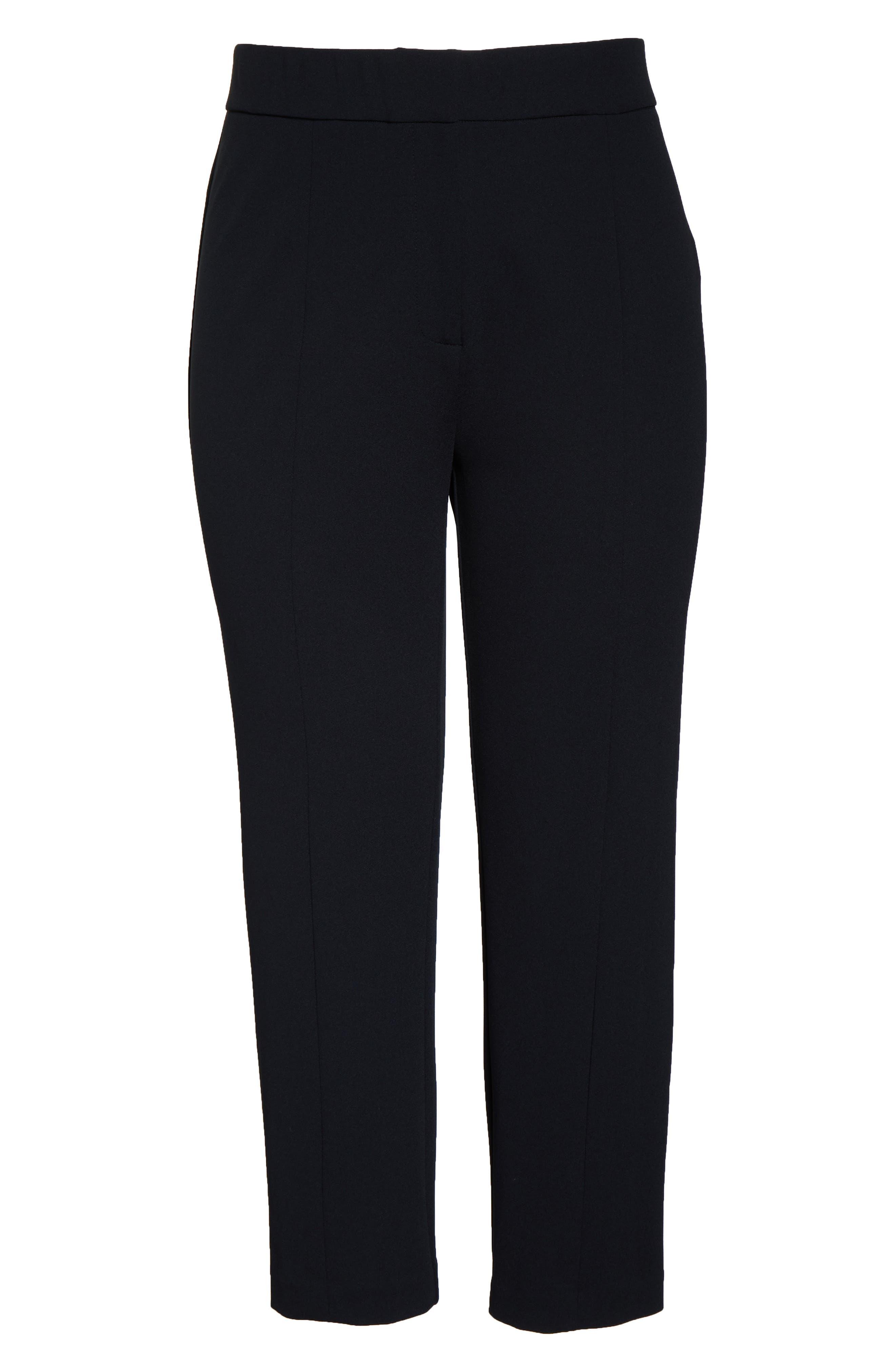 ,                             Ponte Ankle Trousers,                             Alternate thumbnail 5, color,                             BLACK