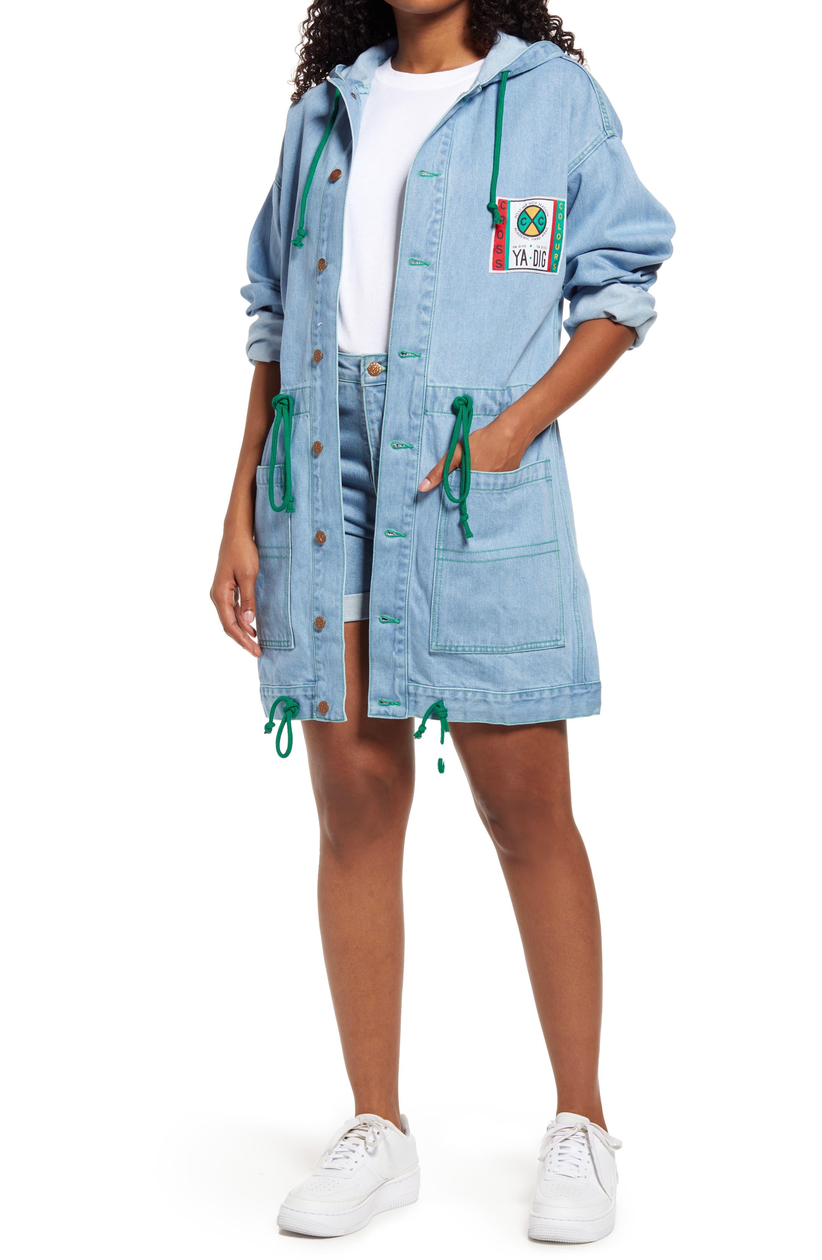 Gender Inclusive Hooded Cotton Denim Barn Jacket