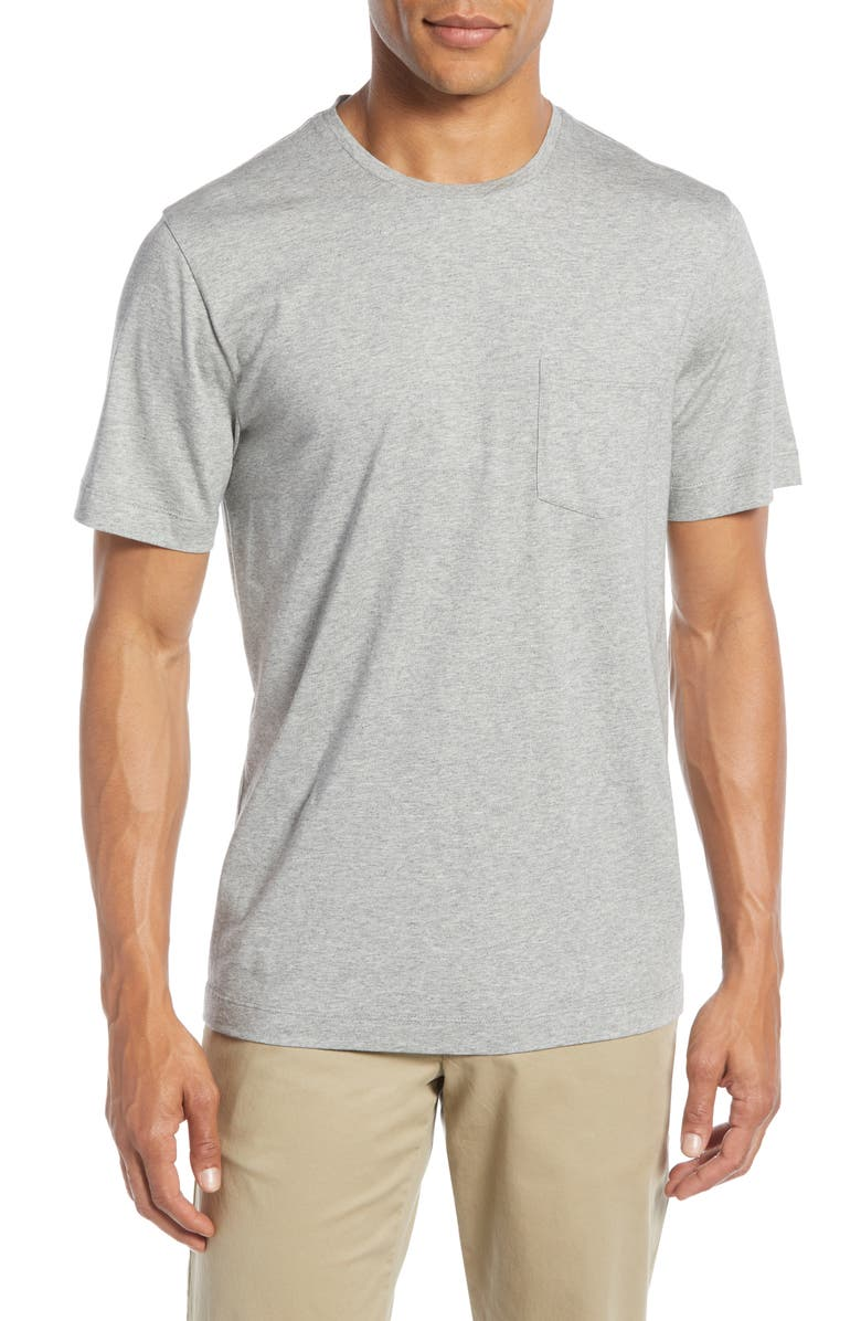 1901 Brushed Pima Cotton Slim Fit T-Shirt, Main, color, GREY OIL HEATHER