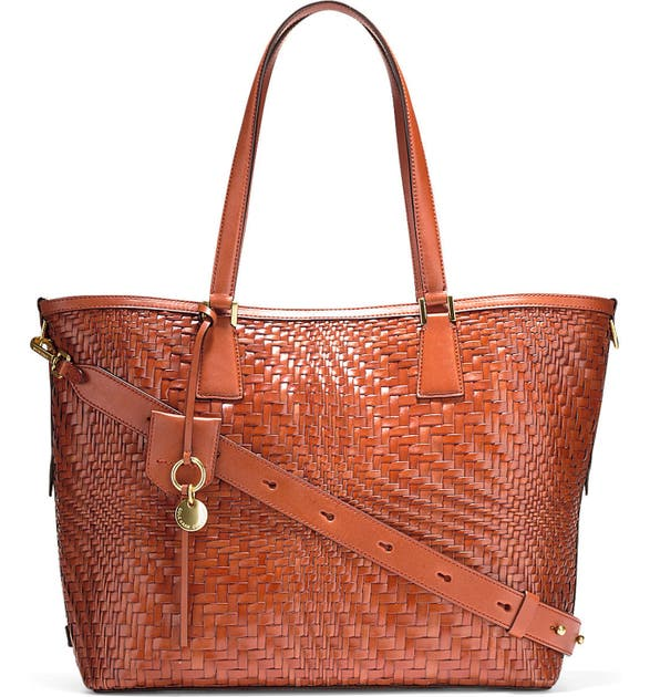 ae83f397df Cole Haan Genevieve Key Item Woven Leather Tote | Nordstrom