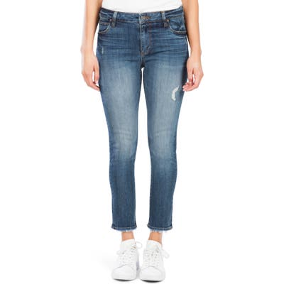 Kut From The Kloth Reese High Waist Ankle Straight Leg Jeans, Blue