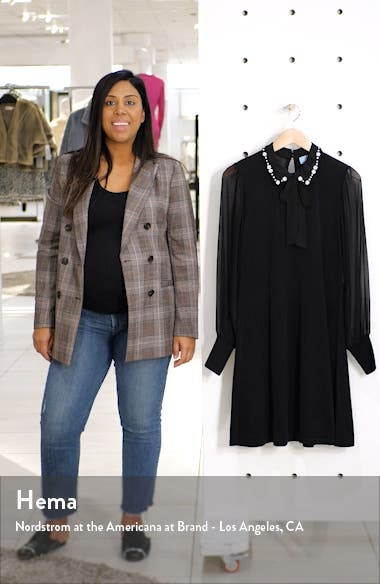 Embellished Collar Tie Neck Long Sleeve Dress, sales video thumbnail