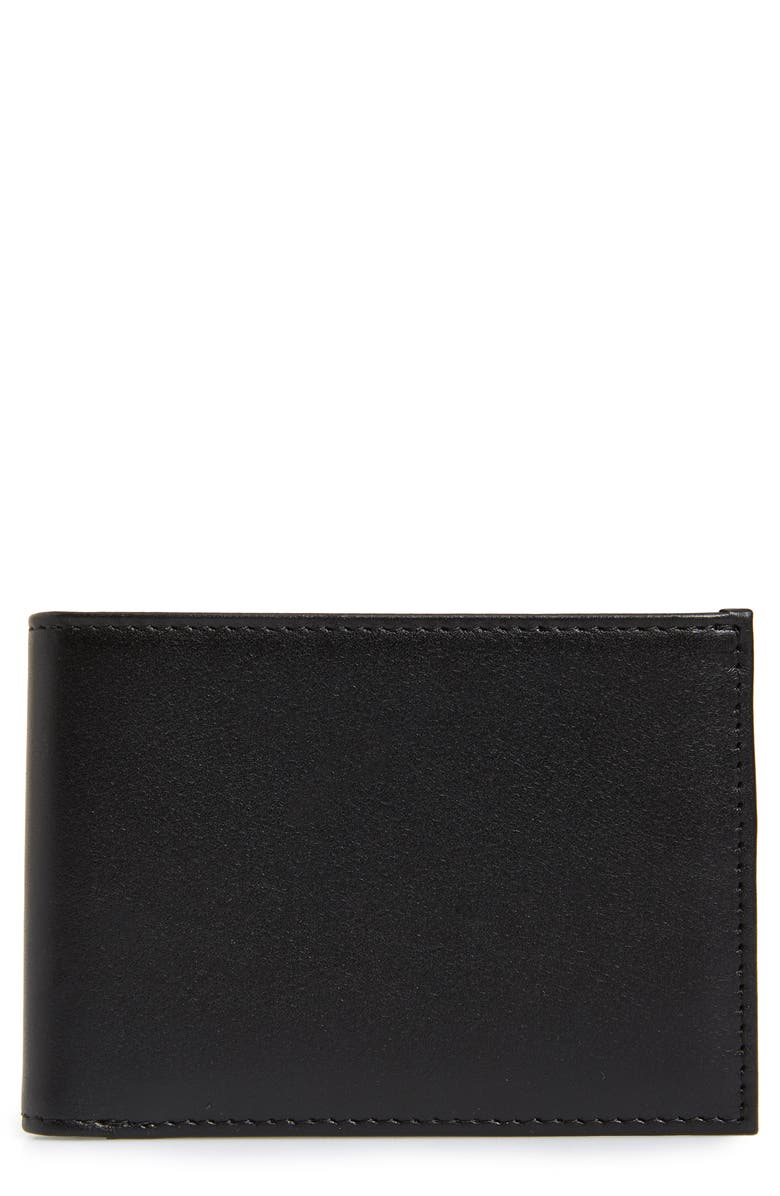NORDSTROM MEN'S SHOP Chelsea Leather Wallet, Main, color, BLACK