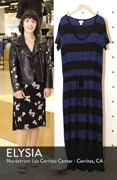 Knit Drawstring Waist Maxi Dress, sales video thumbnail