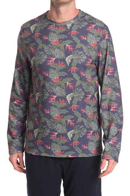 Image of Chillin Dylan Baja Man Tropical Print Long Sleeve Pullover