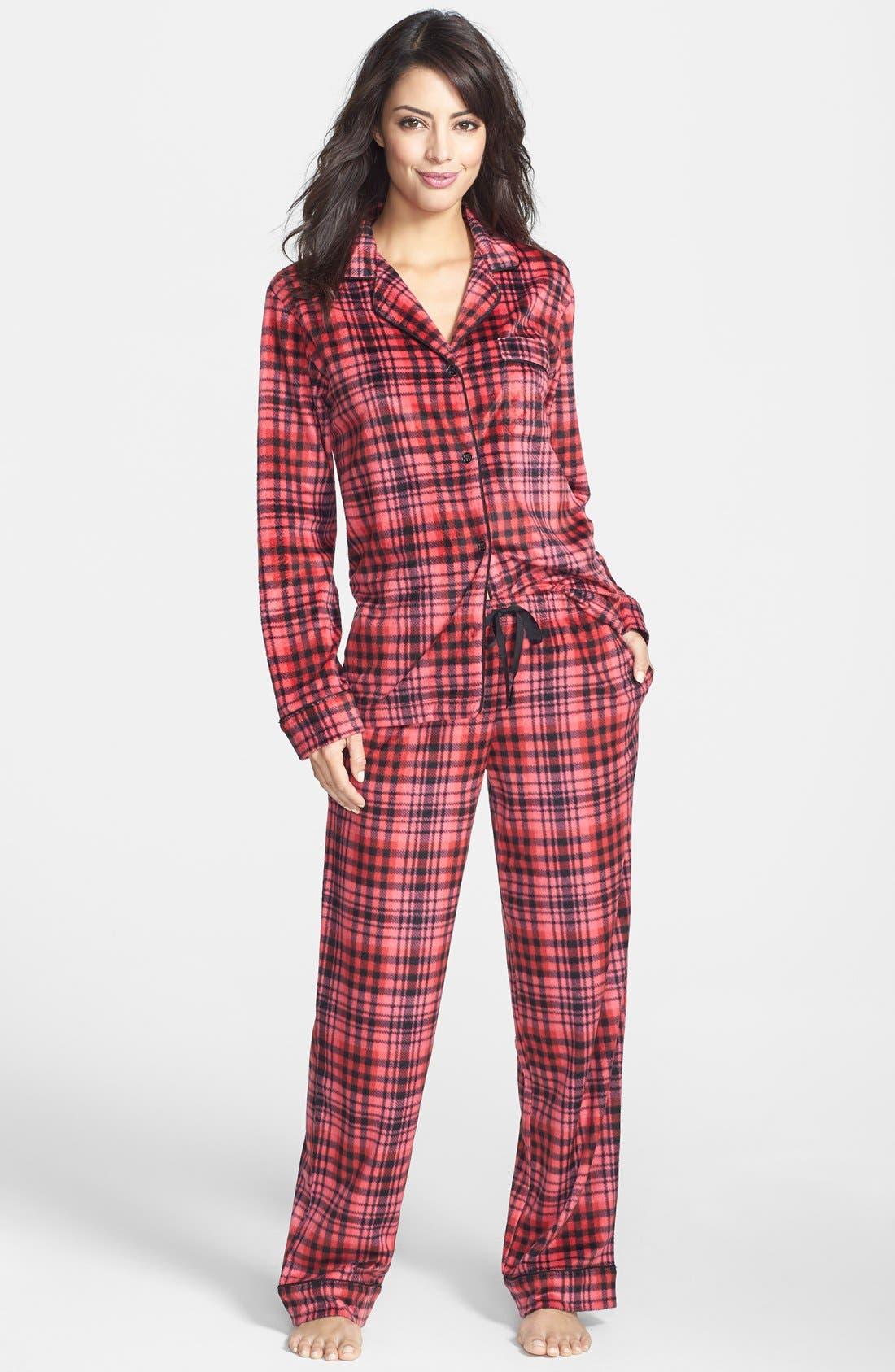 ,                             Long Sleeve Microfleece Pajamas,                             Alternate thumbnail 37, color,                             621
