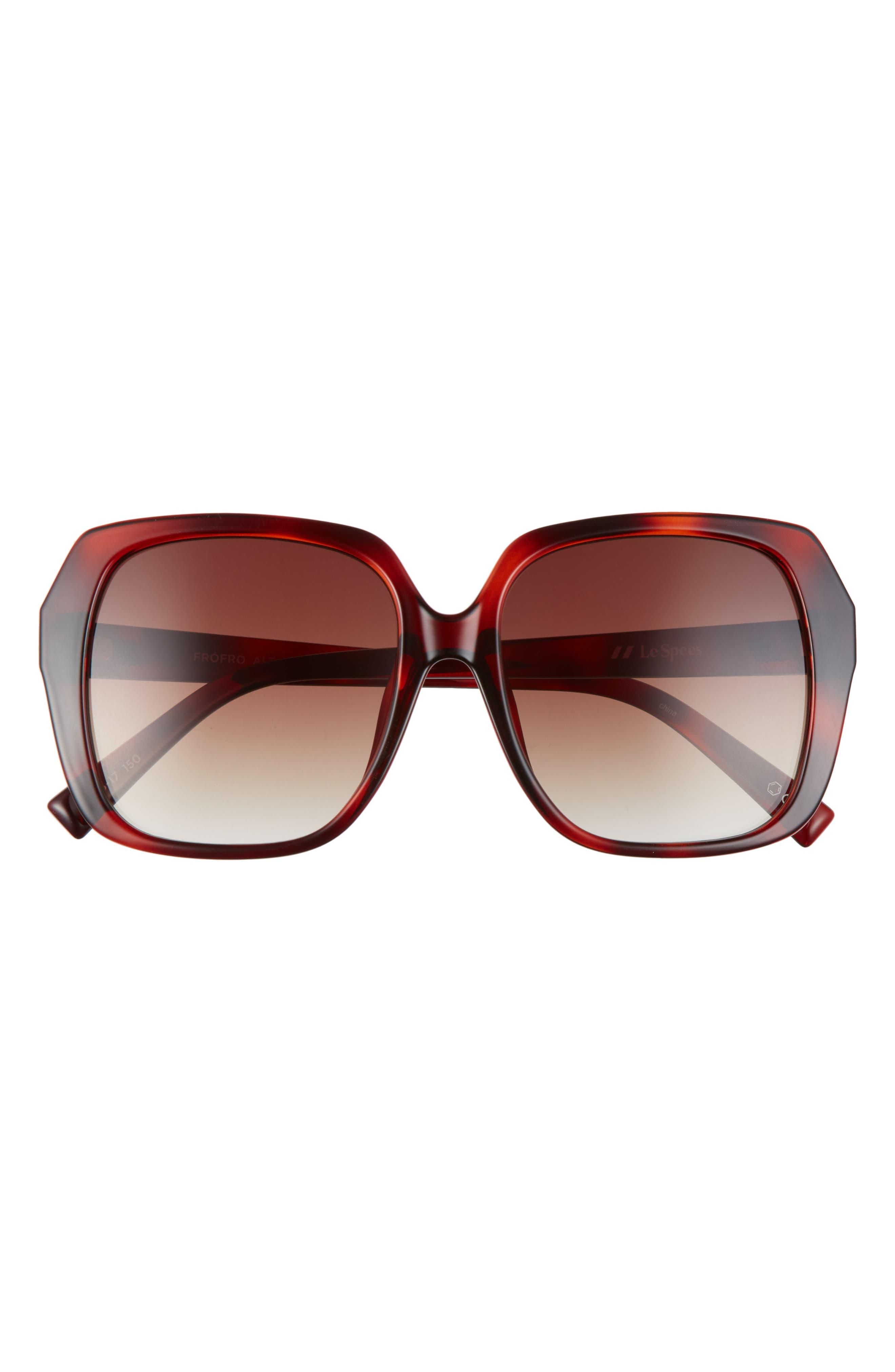 Frofro Alt Fit 56mm Gradient Square Sunglasses