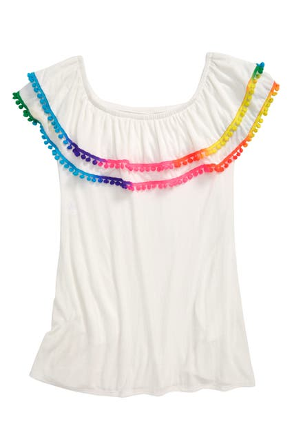 Image of Heart and Harmony Pompom Cover-Up Dress