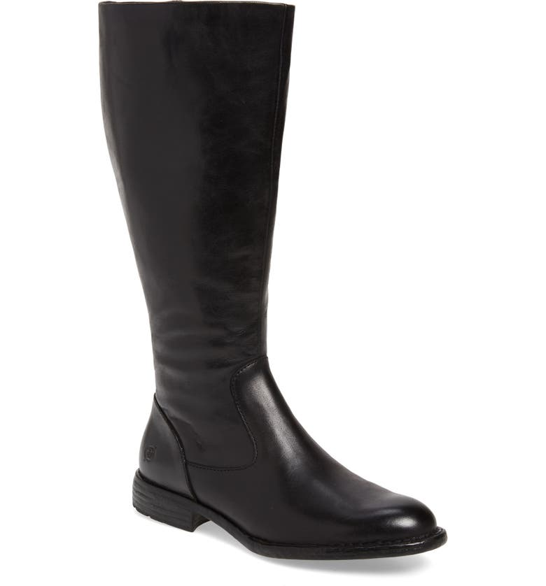 BØRN North Riding Boot, Main, color, BLACK LEATHER