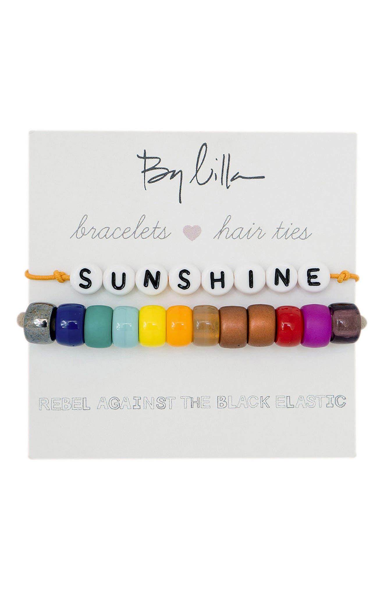 Sunshine Set Of 2 Beaded Stretch Bracelets