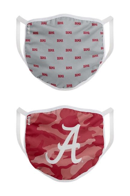 Image of FOCO NCAA Alabama Clutch Printed Face Cover - Pack of 2