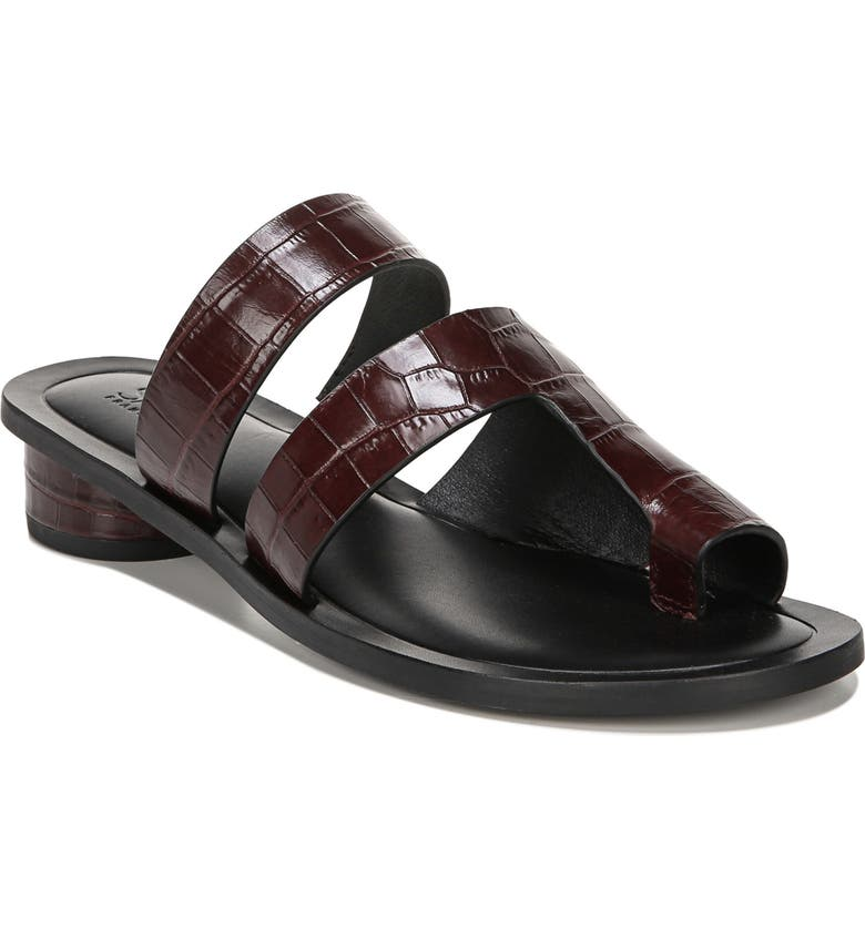 SARTO BY FRANCO SARTO Trixie Slide Sandal, Main, color, BORDO LEATHER