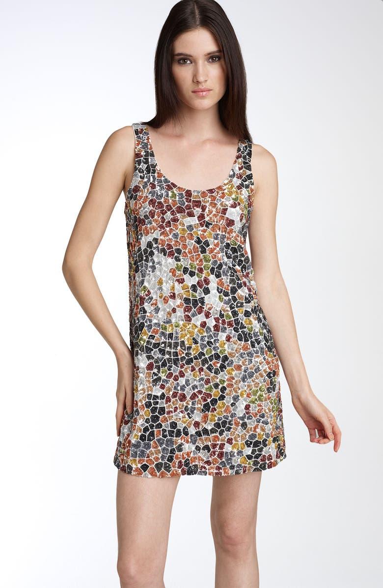 HAUTE HIPPIE Sequin Mosaic Dress, Main, color, 960